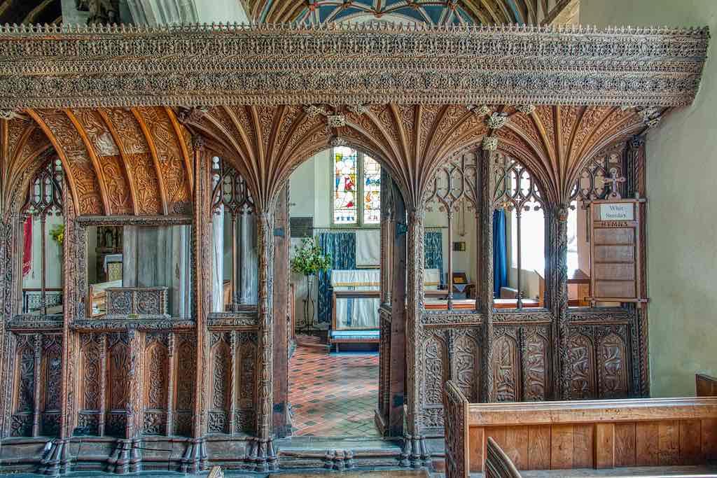 The stunning 16th century rood screen