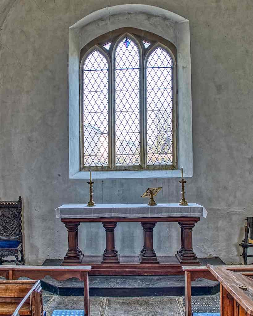 The main altar, modest awe