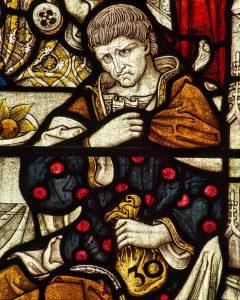 Stained Glass Last Supper Judas Victorian 19th Century Swimbridge
