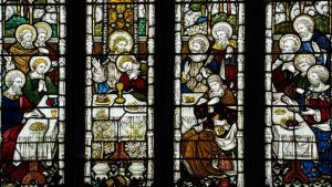 Stained Glass Last Supper Victorian 19th Century Swimbridge