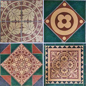 Tiles Encaustic Chancel Victorian 19th Century Cheriton Fitzpaine