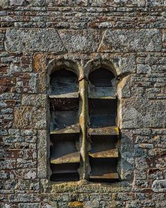 Tower Belfry Window Louvres Slate Stonework Stone Plain Carved 15th Century Medieval Dowland