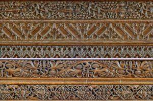 Tower Chancel Screen Cornice Wood Carving Plain 20th Century Cheriton Fitzpaine