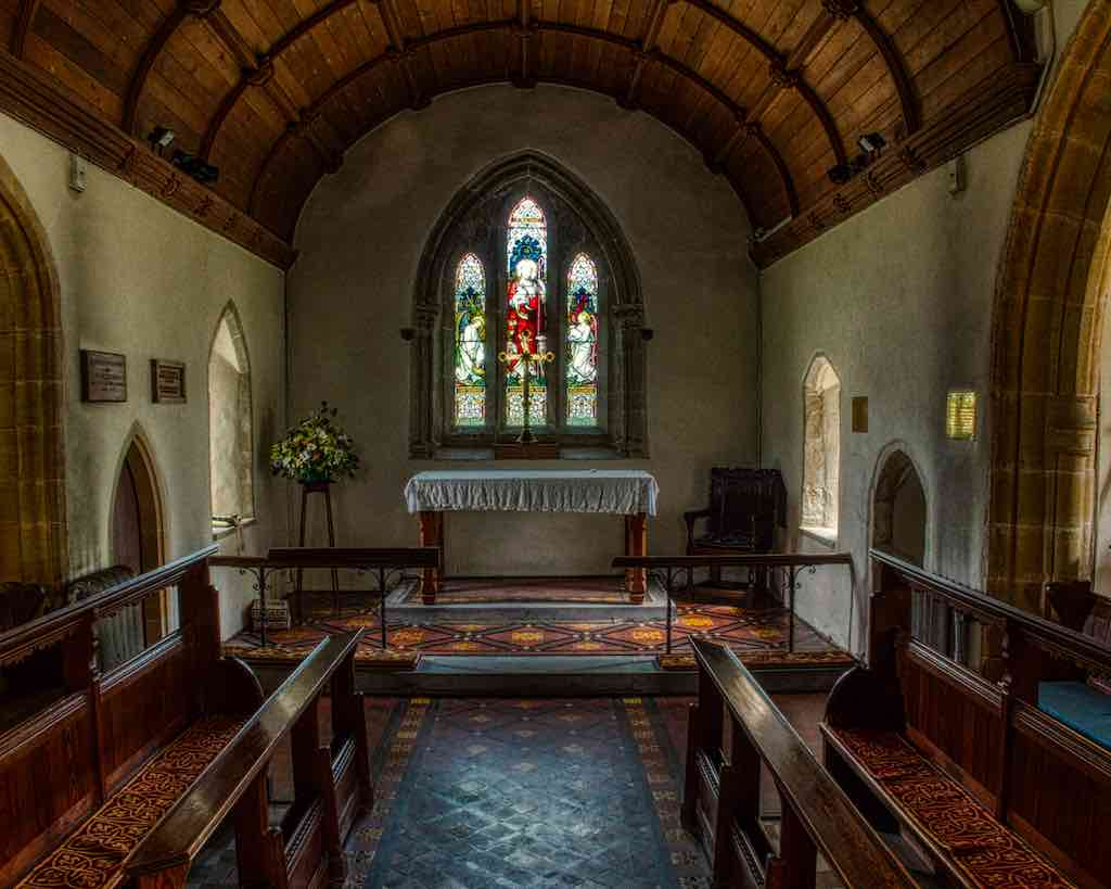 The revamped 13th century chancel