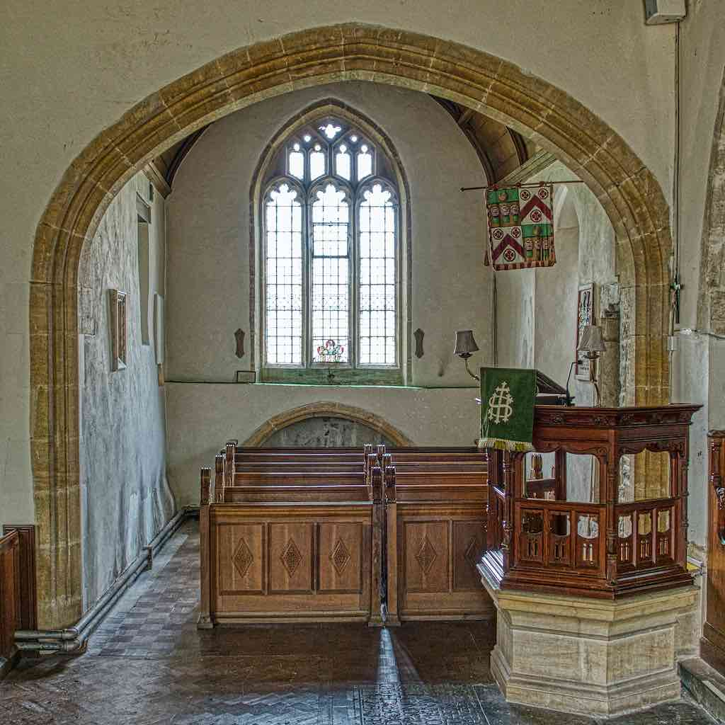 The north transept with a very old inhabitant