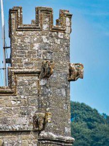 Medieval 15th Century West Tower Stonework Grotesque Membury