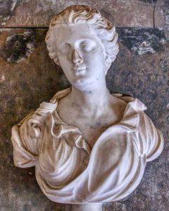 Memorial Stone Marble Carving Plain Bust 18th Century Membury