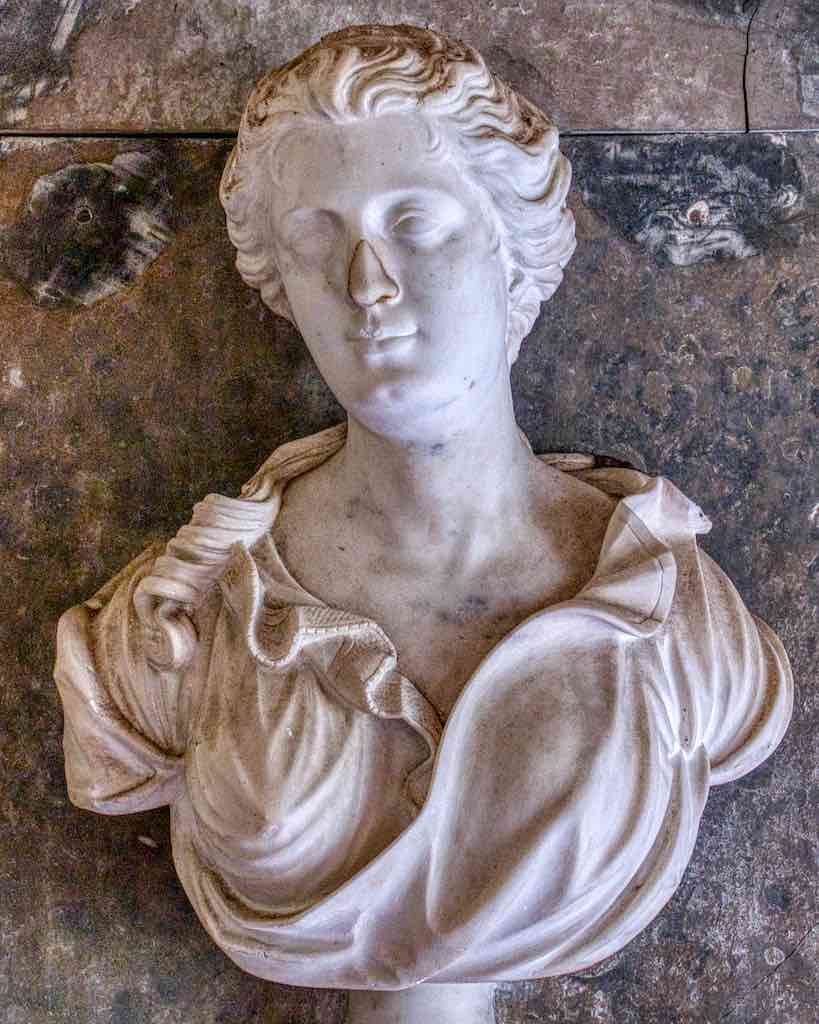 Frances Fry caught beautifully in marble
