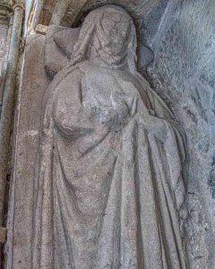 Monument Effigy 13th Century Medieval Stone Carving Plain Membury