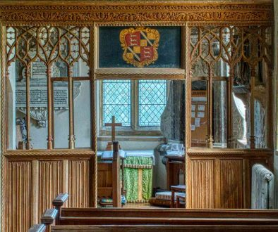 Rood Screen Wood Carving Plain Tracery Cornice Wainscoting 15th Century Medieval Membury