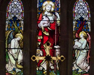Stained Glass Christ Victorian 19th Century Membury