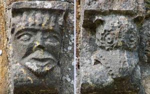 Stone Carving Plain Head Norman 12th Century Corbel Membury
