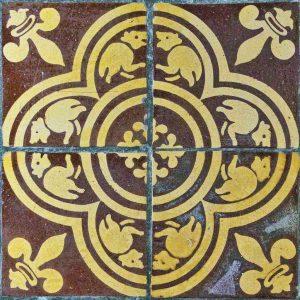 Tile Floor Encaustic Animal Victorian 19th Century Membury
